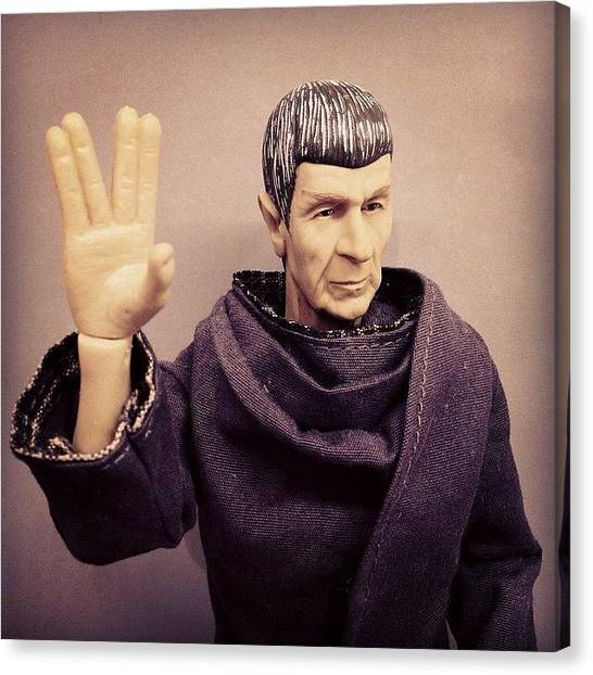 Science Fiction Canvas Print - Rest In Peace, #spock... You'll Be by James Bare