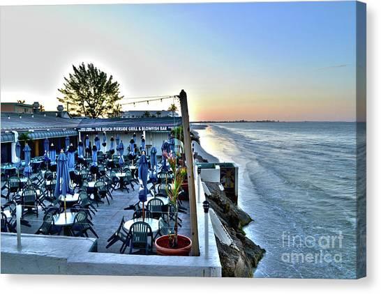 Restaurant On Fort Myers Beach Florida Canvas Print
