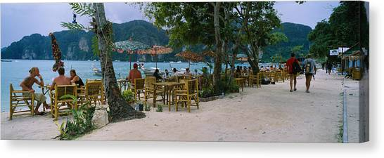 Phi Phi Island Canvas Print - Restaurant On The Beach, Ko Phi Phi by Panoramic Images