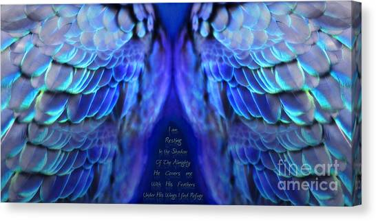 Prophetic Art Canvas Print - Psalm 91 Wings by Constance Woods