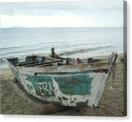 Resting Fishing Boat Canvas Print