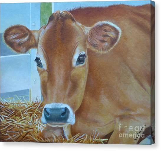 Resting Jersey Mom Canvas Print