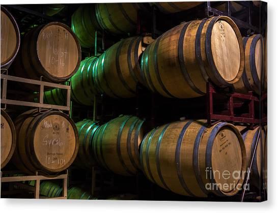 Wine Barrels Canvas Print - Resting Wine Barrels by Iris Richardson