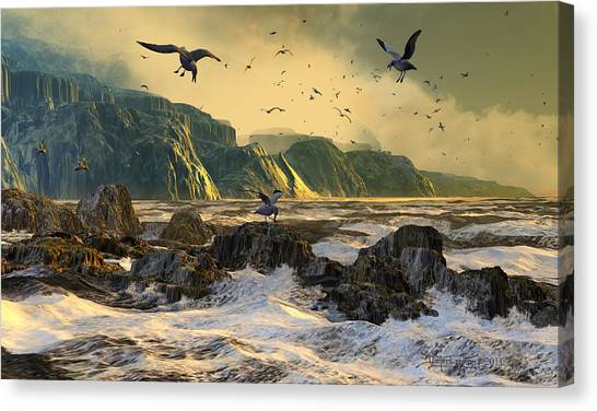 Restless Is The Sea Canvas Print
