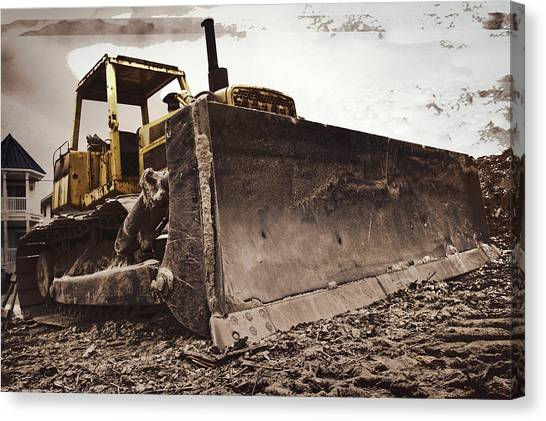 Bulldozers Canvas Print - Restore The Shore by Tom Gari Gallery-Three-Photography