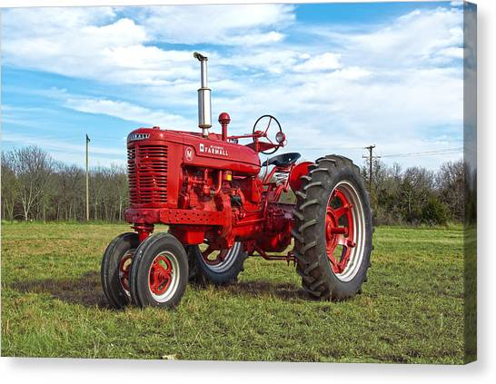 Restored Farmall Tractor Canvas Print