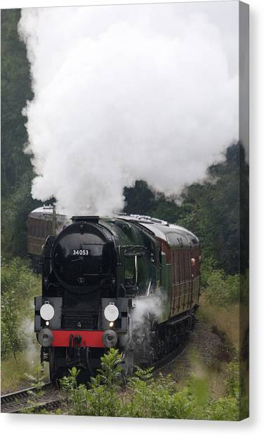 Restored Steam Engine 34053 Canvas Print
