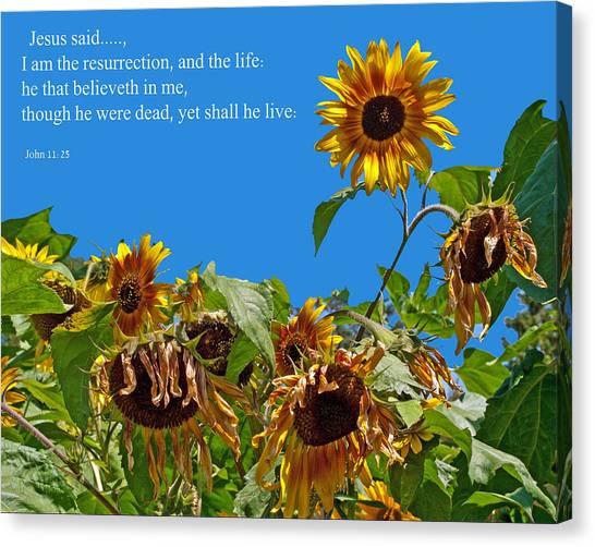 Resurrected Life Canvas Print