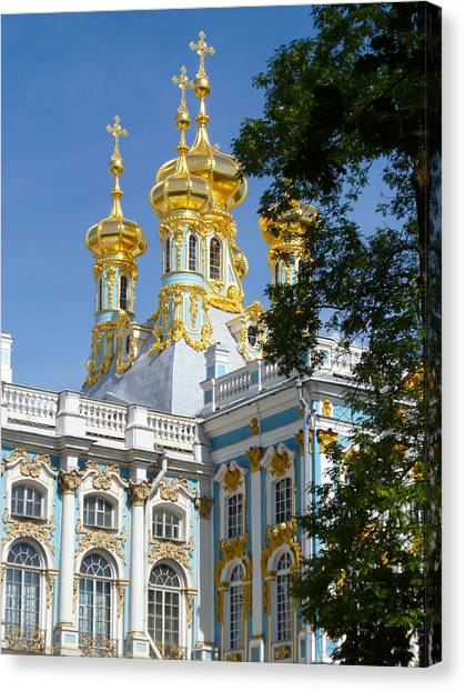Resurrection Church Catherine Palace Canvas Print