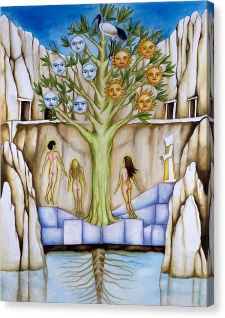 Resurrection Island Canvas Print by Rebecca Barham