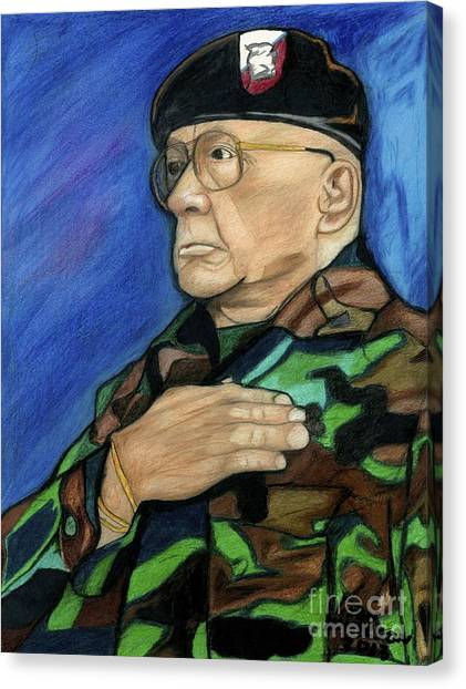Ret Command Sgt Major Kittleson Canvas Print