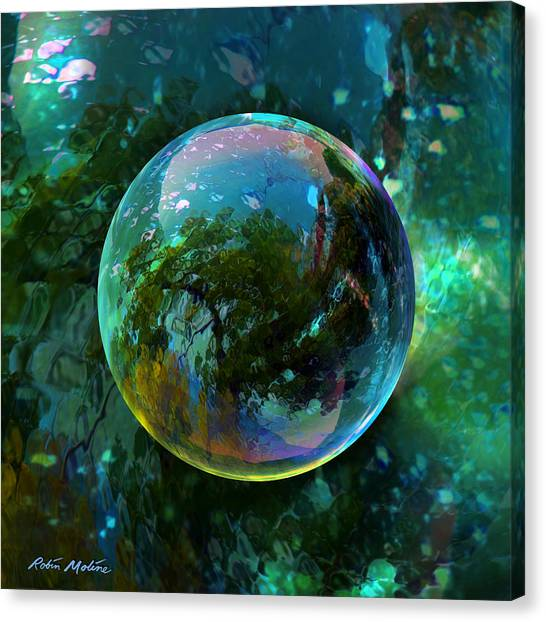 Reticulated Dream Orb Canvas Print