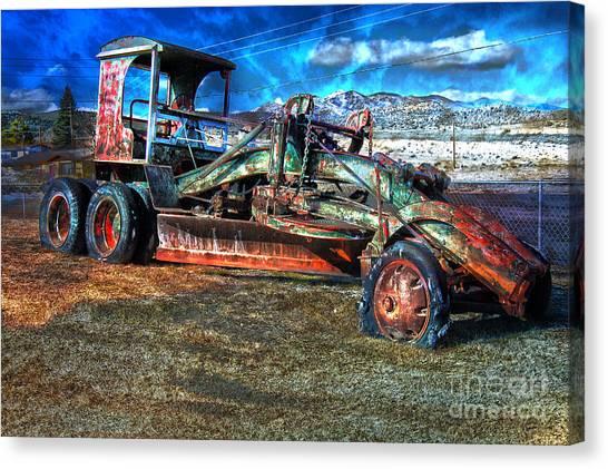 Retired Caterpillar Canvas Print