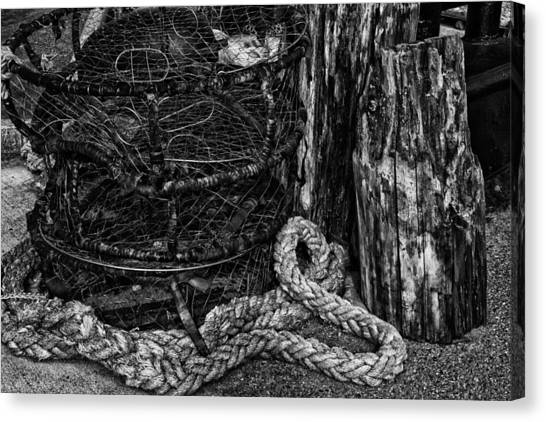 Crabbing Canvas Print - Retired by Mark Kiver