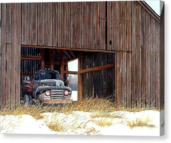 Ford Truck Canvas Print - Retired by Michael Swanson
