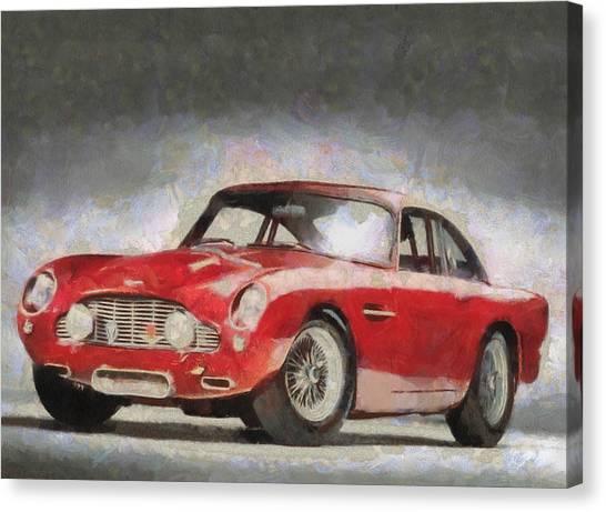 Retro Aston Martin Db5 1963-1965 Canvas Print