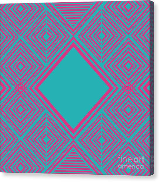 Paper Canvas Print - Retro Background Design, Vector by Gst