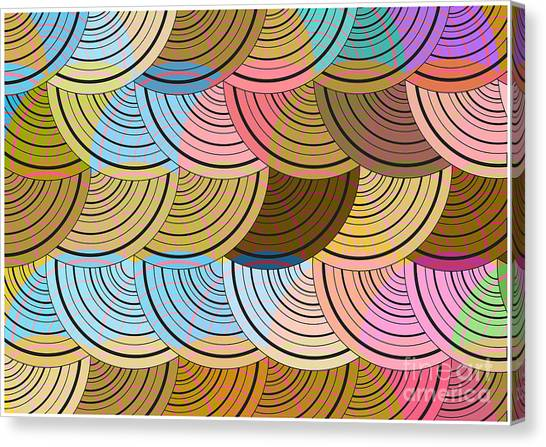 Dots Canvas Print - Retro Circles Background by Pizla09