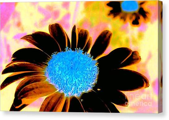 Retro Daisy Canvas Print