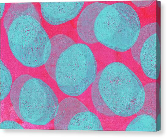 Printmaking Canvas Print - Retro Handmade Background With Pink And by Andipantz
