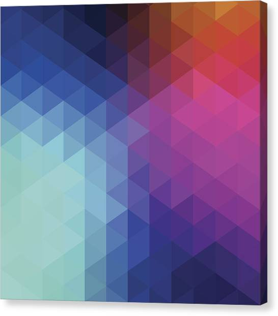 Retro Hexagon Abstract Background Canvas Print by Mustafahacalaki