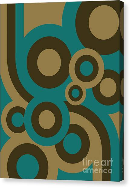 Elegance Canvas Print - Retro Line Background by Isaac Marzioli