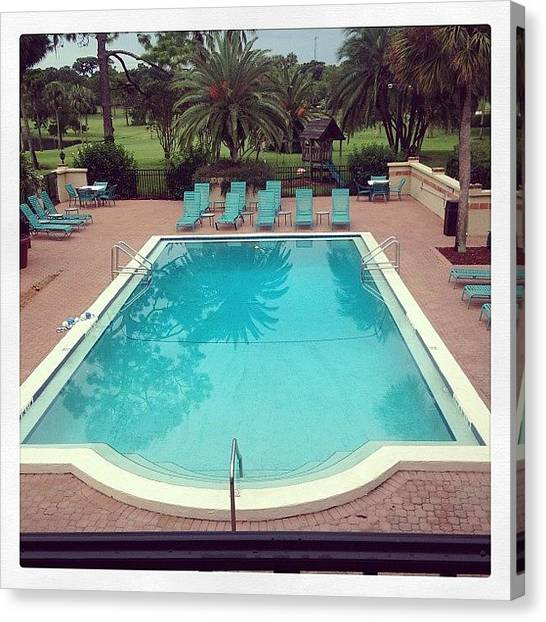 Swimming Canvas Print - Retro Pool #igersofflorida #swimming by Scott Pellegrin