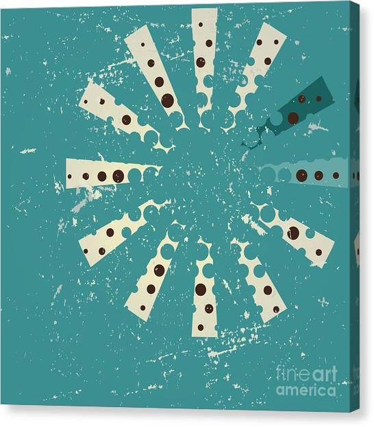 Shapes Canvas Print - Retro Style Abstract Background Design by Ashley Van Dyck