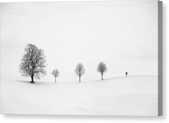 Skiing Canvas Print - Return As Always by