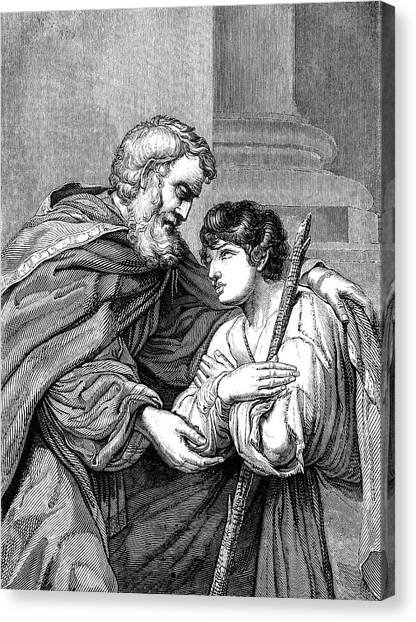 Printmaking Canvas Print - Return Of The Prodigal Son Victorian by Whitemay