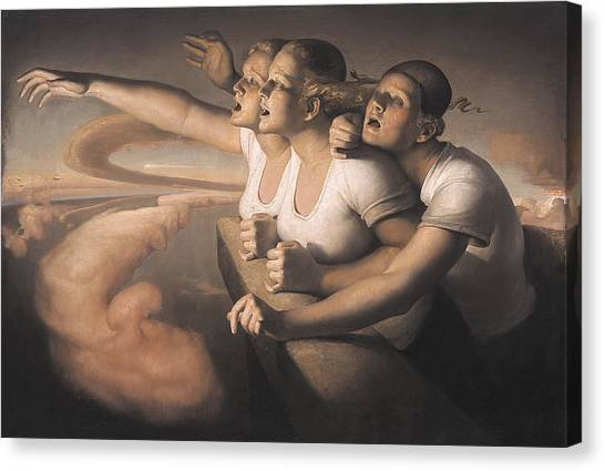 Three Girls Canvas Print - Return Of The Sun by Odd Nerdrum