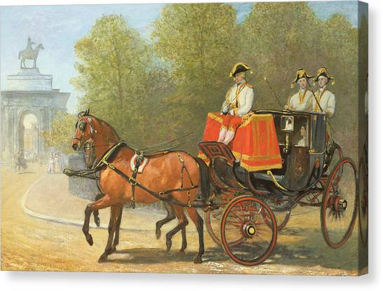 Hyde Park Canvas Print - Returning From Her Majestys Drawing Room by Alfred Corbould