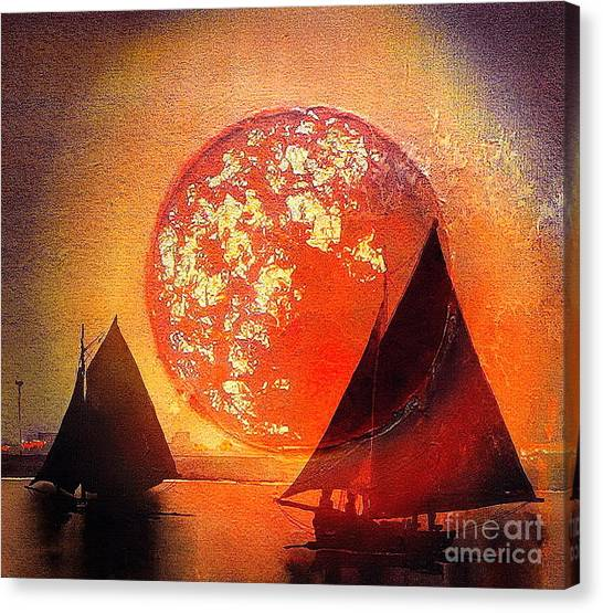 Galway Hooker Canvas Print - Returning Home by Val Byrne
