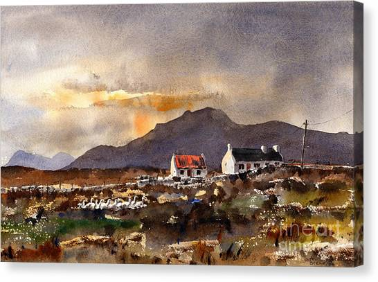 Returning Home In Achill Canvas Print