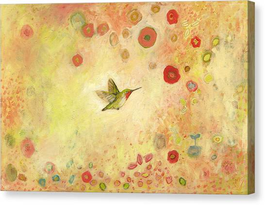 Peaches Canvas Print - Returning To Fairyland by Jennifer Lommers