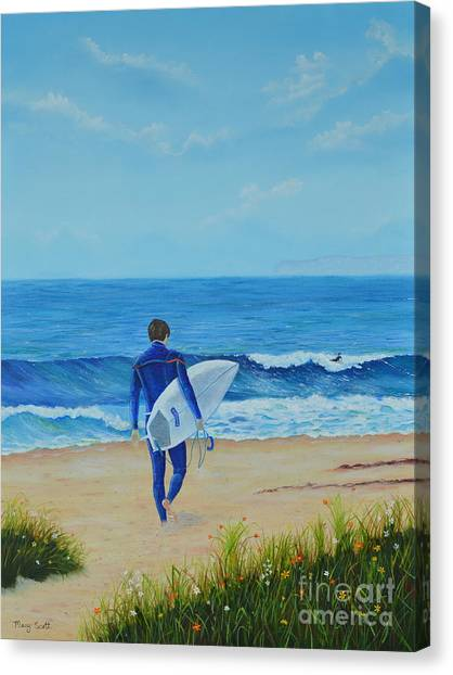 Returning To The Waves Canvas Print