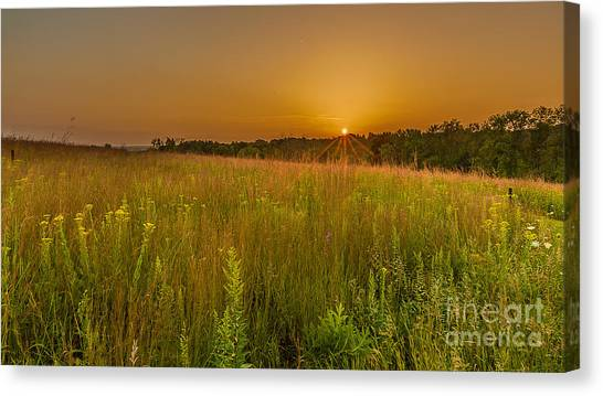 The Nature Center Canvas Print - Retzer Sunset by Andrew Slater