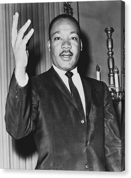Political Science Canvas Print - Rev. Martin Luther King by Dick DeMarsico