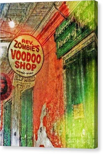 Rev Zombies Canvas Print - Rev Zombie's Voodoo Shop by Valerie Reeves