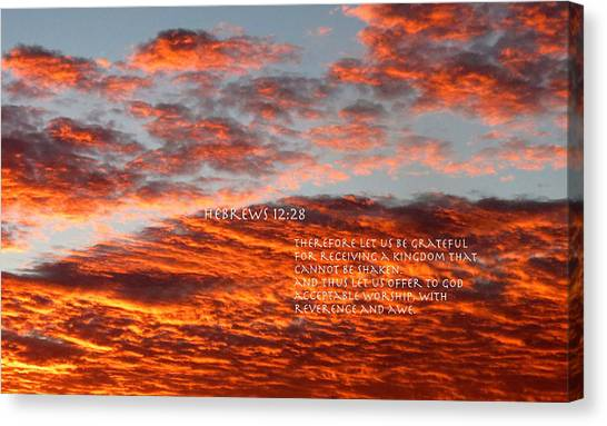 Reverence For Our Lord Canvas Print