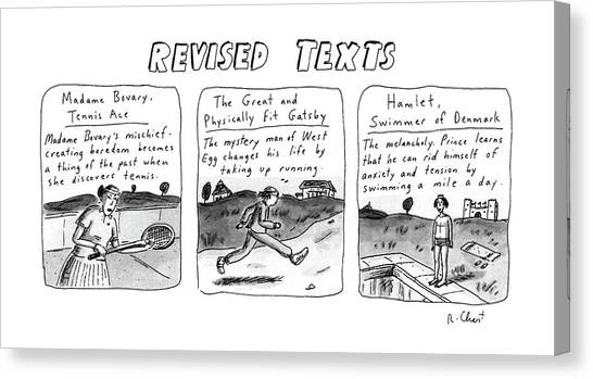 Tile Canvas Print - Revised Texts by Roz Chast