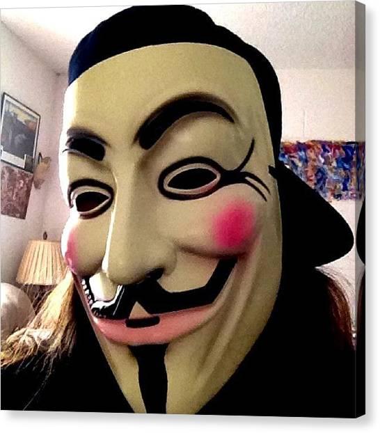 The Legion Canvas Print - #revolution #mask #cap #baseballcap by LeeLee Atkins