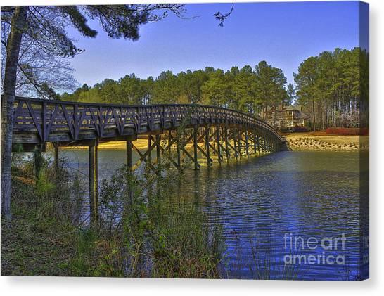 Jack Nicklaus Canvas Print - Reynolds Plantation Arch Bridge by Reid Callaway