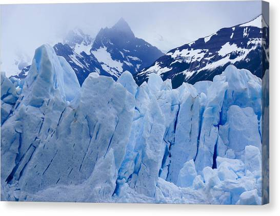 Perito Moreno Glacier Canvas Print - Rhapsody In Blue by Michele Burgess