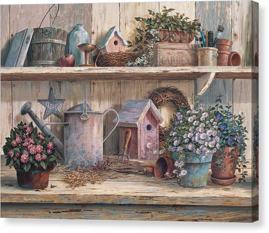 Wreath Canvas Print - Rhapsody In Rose by Michael Humphries