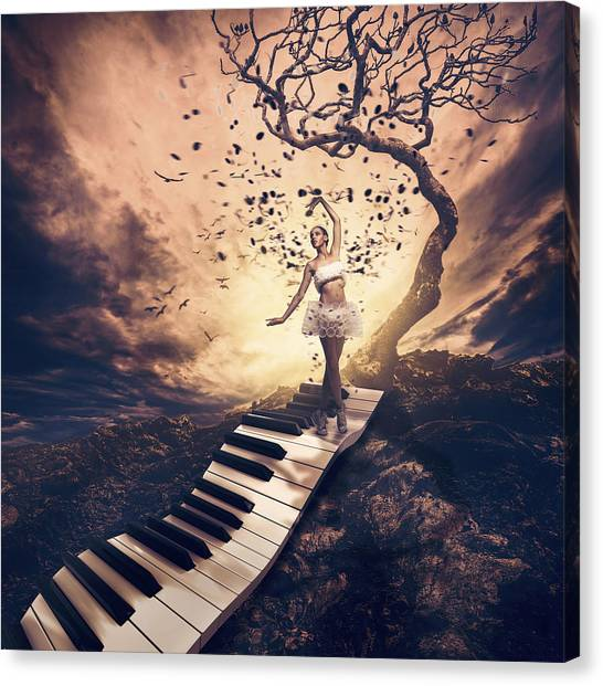 Electronic Instruments Canvas Print - Rhapsody by Jackson Carvalho