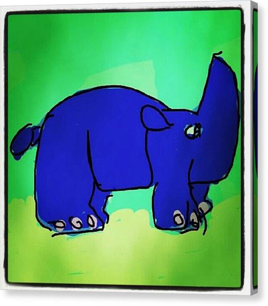 Rhinos Canvas Print - #rhino #cartoon #colors #sketch #paint by Nuno Marques