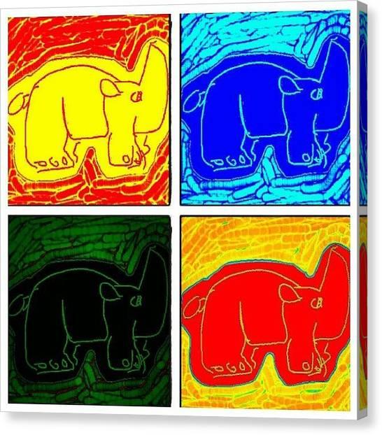 Rhinos Canvas Print - #rhino #colors #draw #drawsomething by Nuno Marques