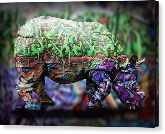 Rhinos Canvas Print - Rhino4 by Mark Ashkenazi