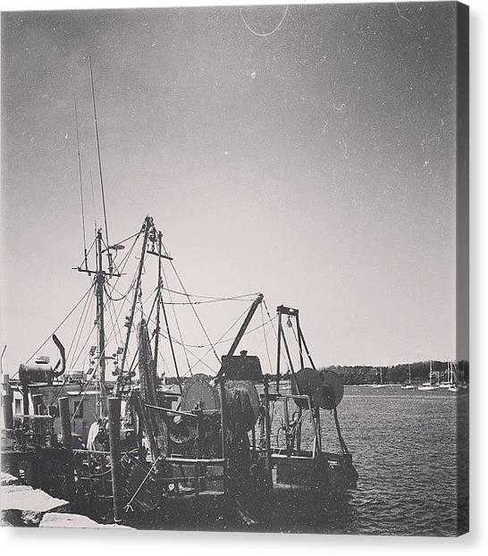 Rhode Island Canvas Print - Rhode Island Boat by Ashley Morton